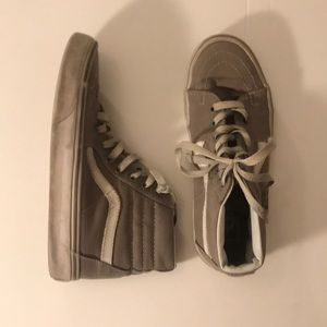 Vans grey sk8 highs size 5.5 *boys*